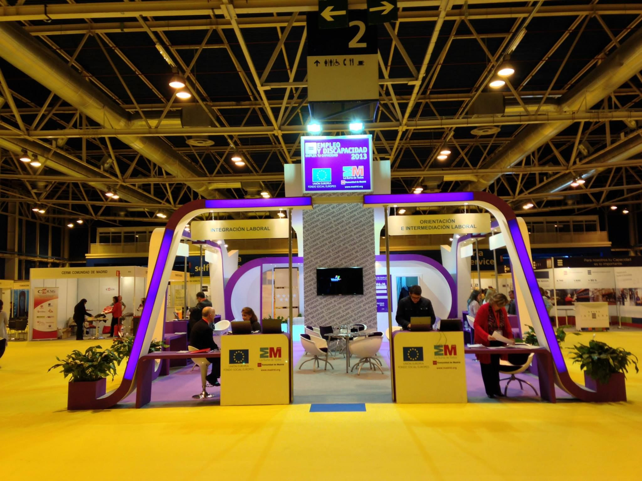 Stands Para Expo : Stand en ifema la feria de empleo para discapacitados