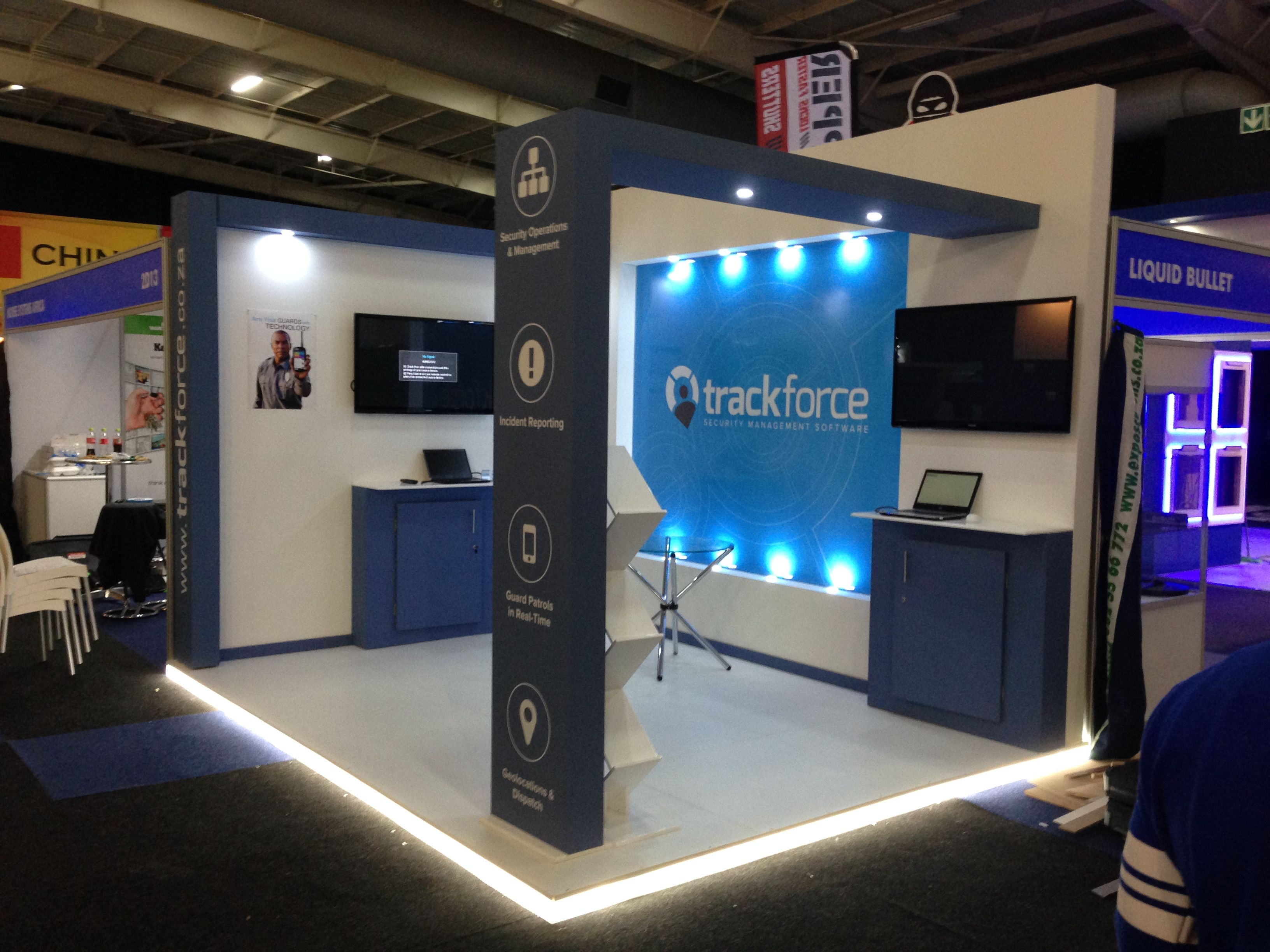 Exhibition Stand Builders Johannesburg : Track force beautiful exhibition stand first time in sa