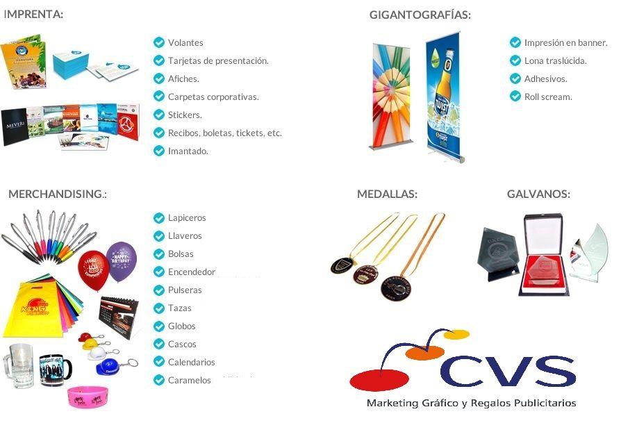 CVS Marketing Impreso y Regalos Publicitarios
