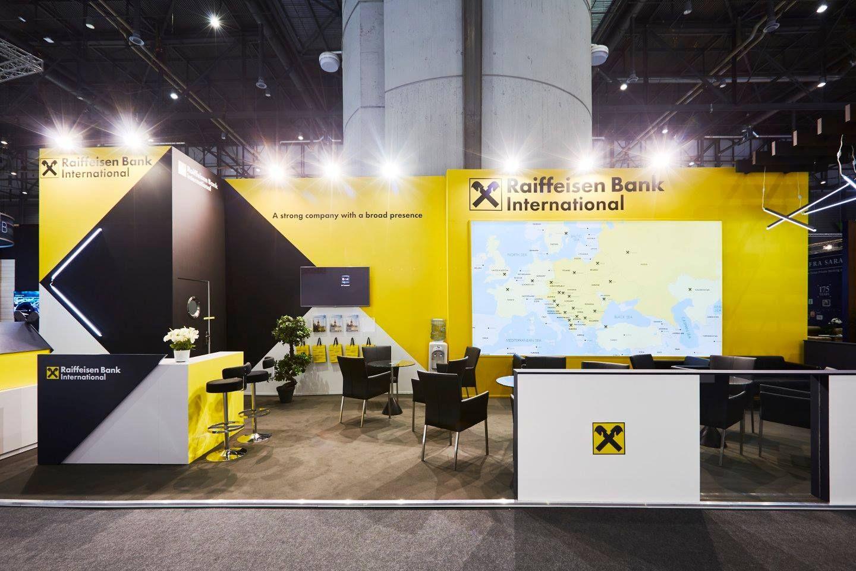 Modular Exhibition Stand Year : Raiffeisen bank sibos geneva