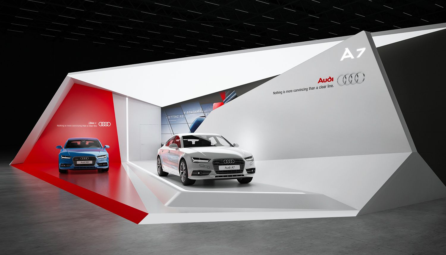 Audi a7 exhibition stand design for Expo stand