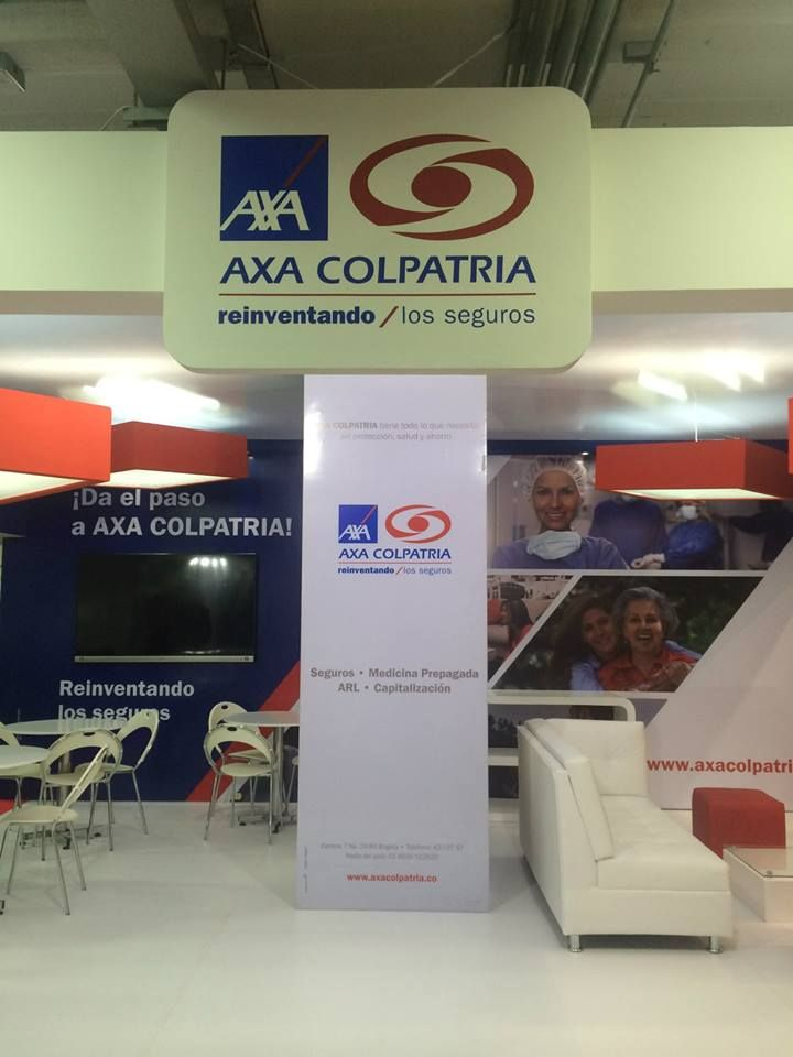 Interior del Stand de AXA en la Feria del Hogar Bogotá