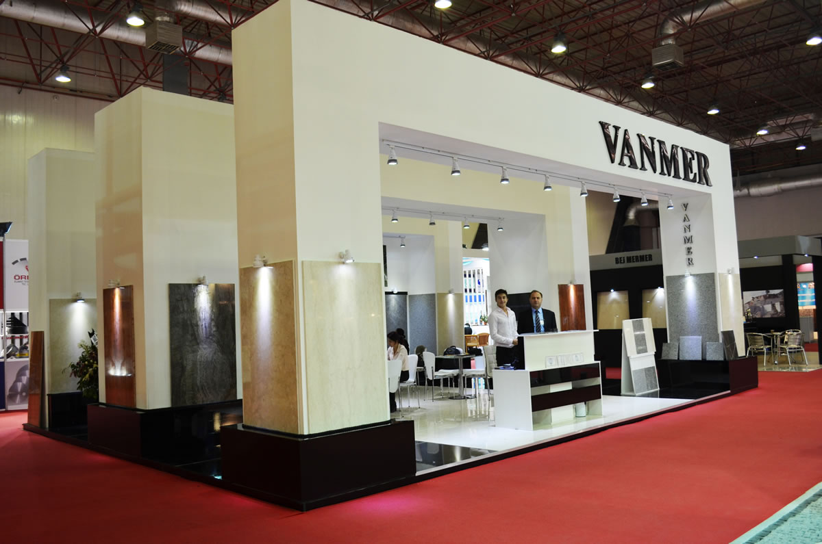 Natrual Stone Show Stand Istanbul