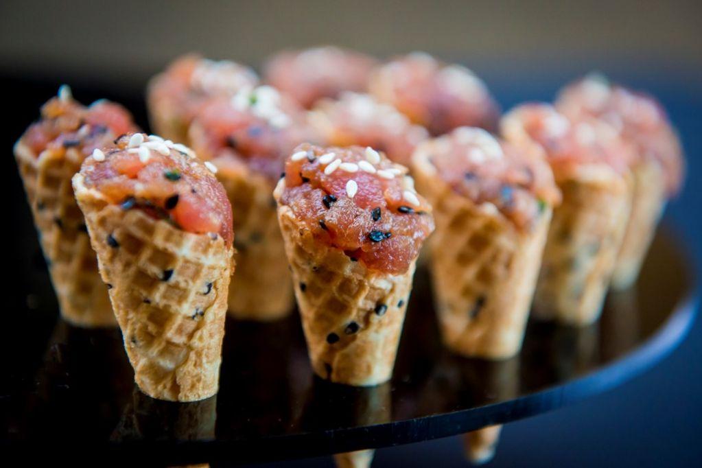 Mpc Savory Cones With Spicy Tuna Tartare