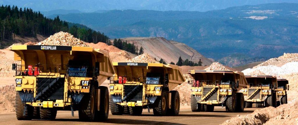 Mining Yellow Trucks