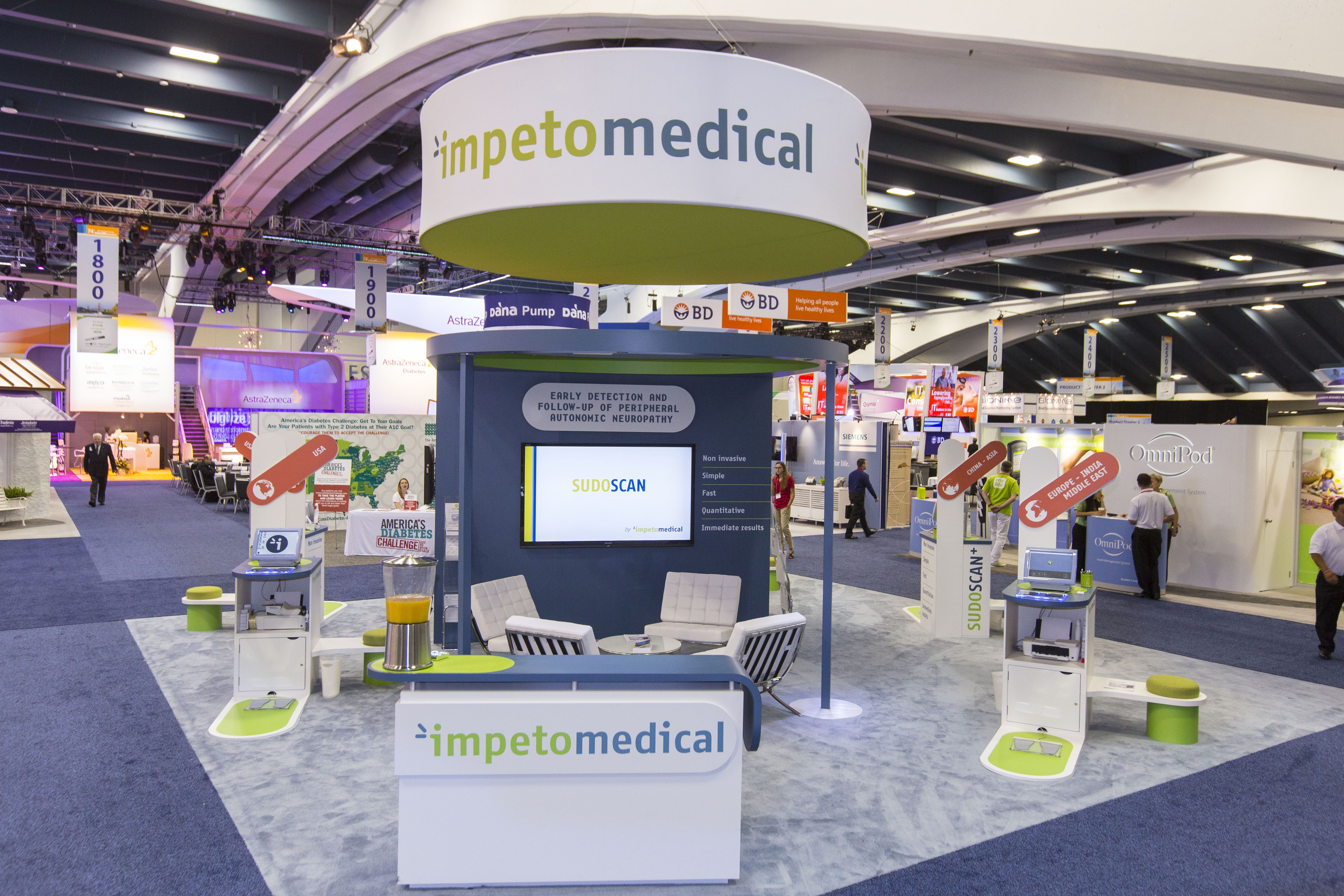 30x30 Custom Exhibit for Impeto Medical 1